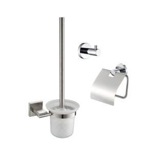 toiletset compleet chroom lavatio