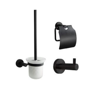 toiletset compleet zwart lavatio nero